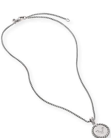 David Yurman Collectible Diamond Initial V Necklace