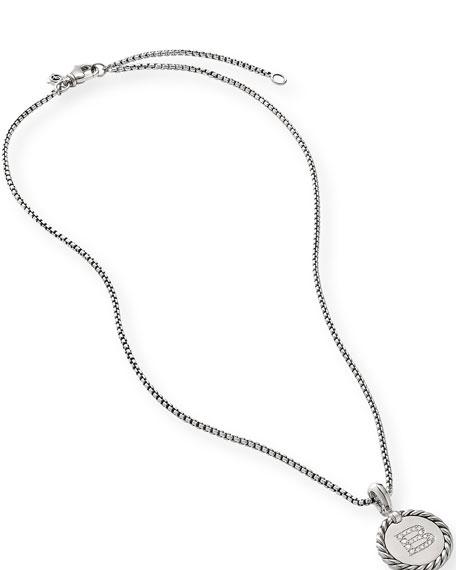 David Yurman Collectible Diamond Initial B Necklace