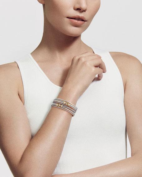 David Yurman DY Buckle Crossover Cuff Bracelet w/ 18k Gold