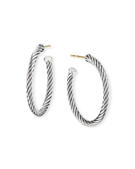 David Yurman Cablespira Hoop Earrings, 1""