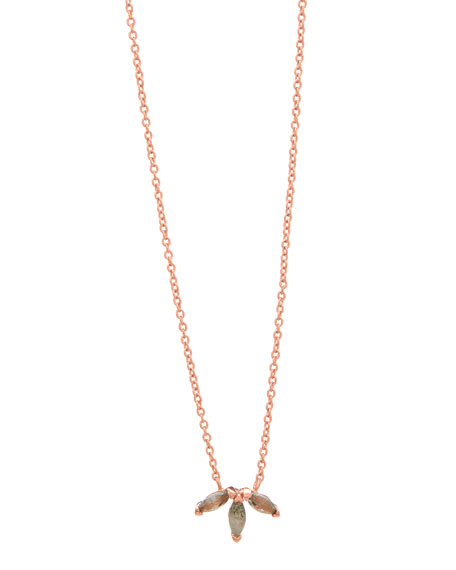 gorjana Perry Triple-Marquise Pendant Necklace