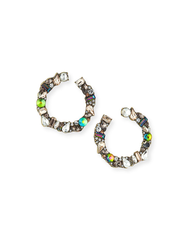 Seraphine Stone Hoop Earrings