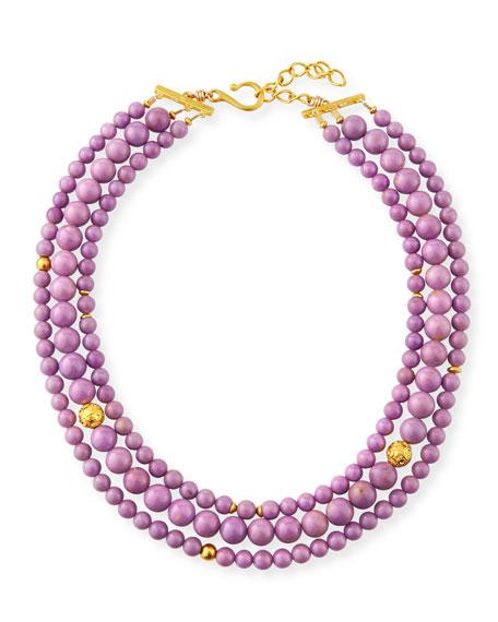 Dina Mackney 3-Strand Phosphosiderite Necklace