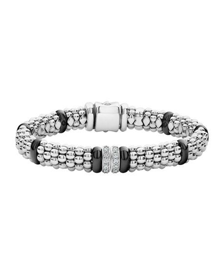 LAGOS Black Caviar 2-Diamond Station Bracelet