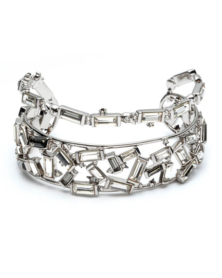 Alexis Bittar Scattered Crystal Baguette Cuff