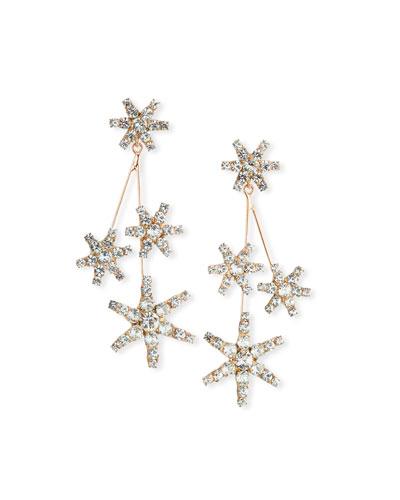 Saros Crystal Starburst Earrings