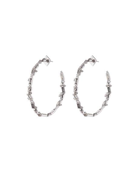 Alexis Bittar Crystal Baguette Hoop Earrings