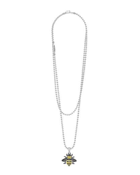 LAGOS Rare Wonders Long Honeybee Pendant Necklace w/ 18k Gold