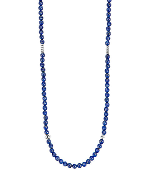 LAGOS Caviar Icon Long Necklace, Lapis