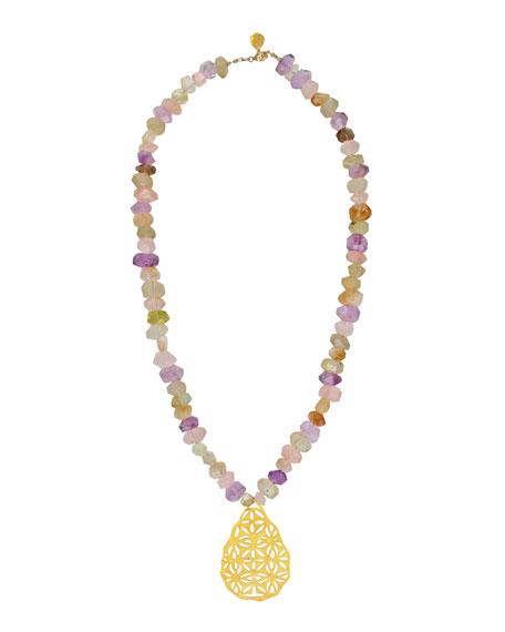 Devon Leigh Pastel Filigree Pendant Necklace
