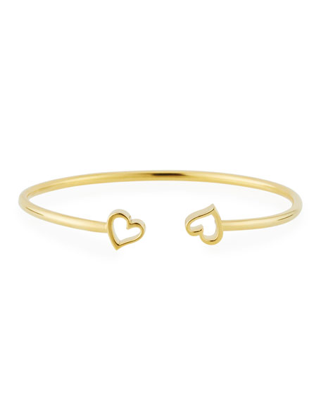 Alex and Ani Heart Kick Cuff Bracelet, Gold Vermeil
