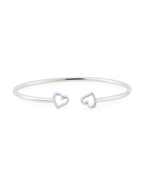 Alex and Ani Heart Kick Cuff Bracelet, Silver