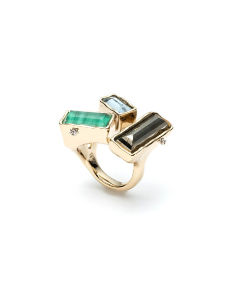 Alexis Bittar Molten Metal Stone Cluster Ring, Size