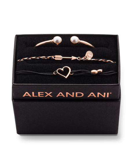 Alex and Ani Pearly Cuff Bracelet Boxed Gift Set, Gold