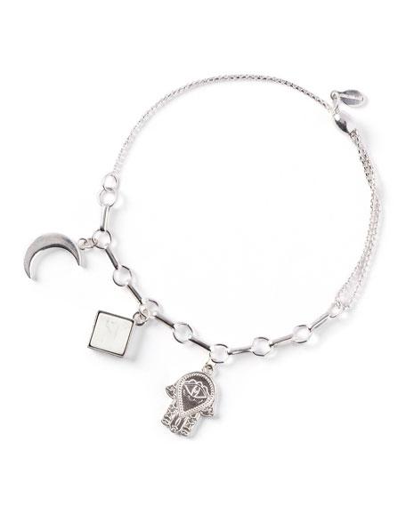 Alex and Ani Moon Triple-Charm Bracelet, Silver