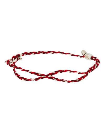 Precious Threads Bracelet, Sangria/Silver