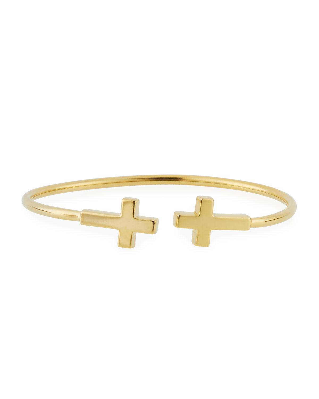 9c387d9634661d Alex and Ani Precious Side Cross Kick Cuff Bracelet, Gold Vermeil ...
