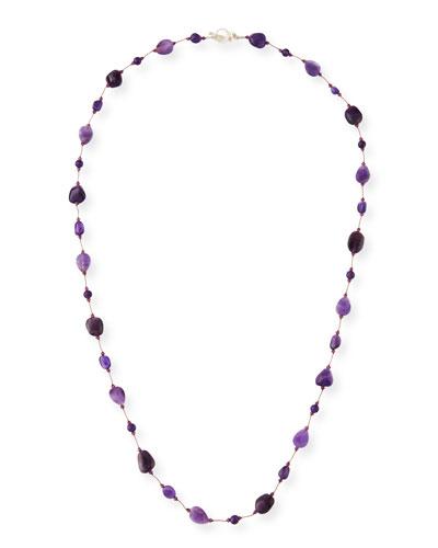 Long Amethyst Combo Necklace  36L