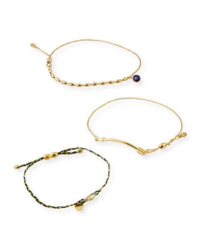 Arrow Pull-Chain Bracelet Gift Set  Gold