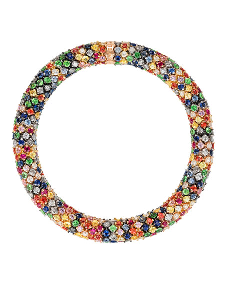 Carolina Bucci Twister Luxe 18k Bracelet, Rainbow