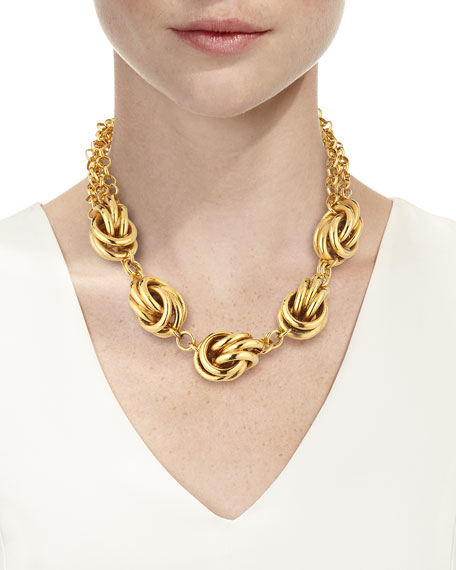 Image 3 of 3: Jose & Maria Barrera Short 5-Knot Necklace