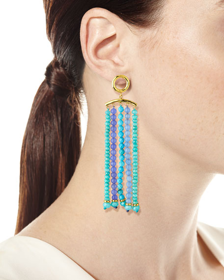 NEST Jewelry Amazonite & Amethyst Tassel Earrings