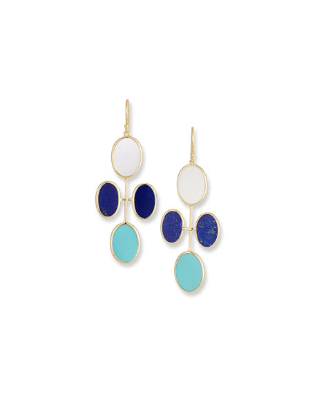 Ippolita 18K Polished Rock Candy Elongated Oval Clover Earrings in Viareggio