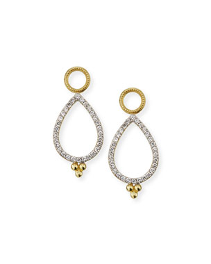 Jude Frances Provence 18k Delicate Open Pear Pave Earring Charms 220a60d30ce2f