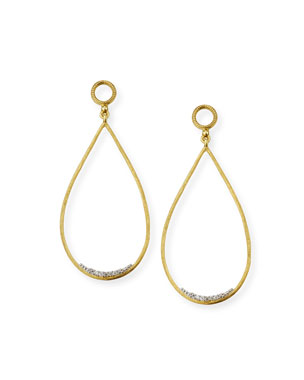 Jude Frances Provence 18k Large Open Teardrop Earring Charms w  Diamonds f427a7a491d6c
