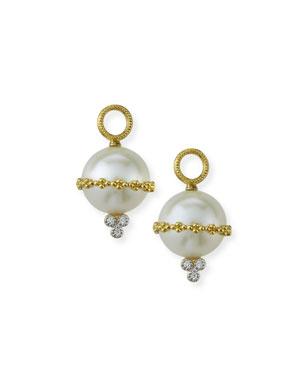 Jude Frances Provence 18k Wrapped Pearl Beaded Earring Charms w  Diamonds d5d042fdabc90