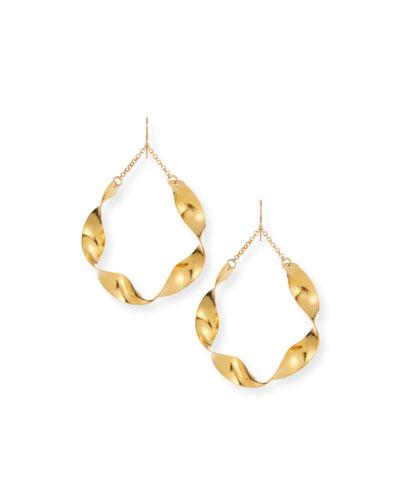 Twisted Wave Hoop Earrings