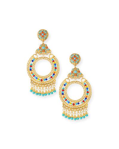 Crystal Chandelier Clip-On Earrings
