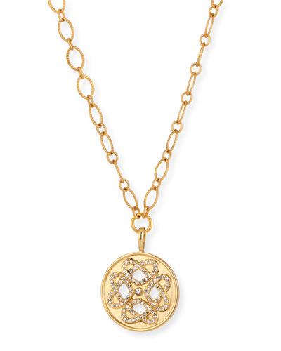 Hearts Talisman Necklace w/ Crystals