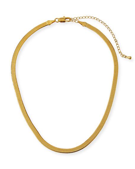 Fallon Liquid Herringbone Choker Necklace