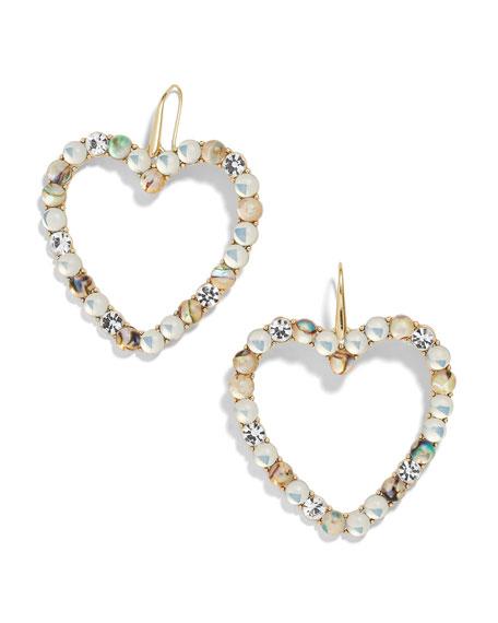 BaubleBar Aerilyn Heart Drop Earrings, White