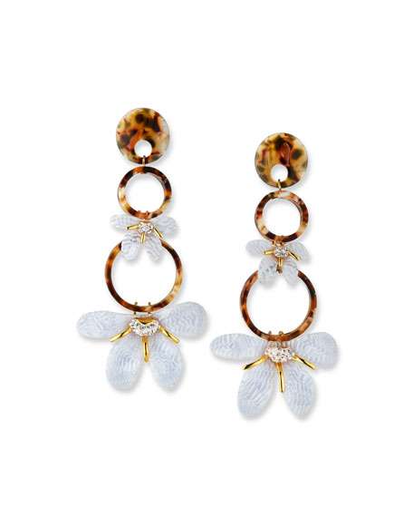 Lele Sadoughi TRUMPET LILY CHANDELIER EARRINGS