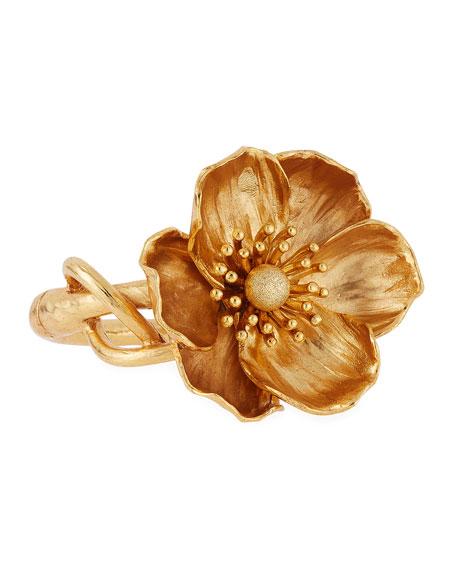 Oscar de la Renta Poppy Flower Bracelet