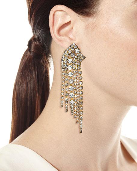 Elizabeth Cole Barrett Crystal Earrings, Clear