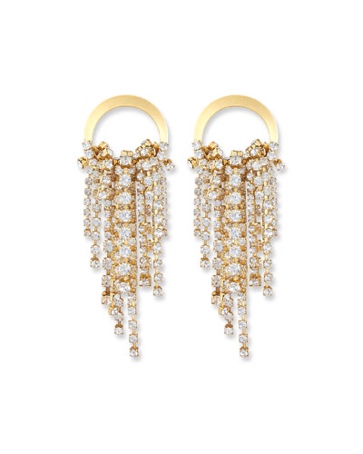 Rowan Crystal Dangle Earrings  Clear