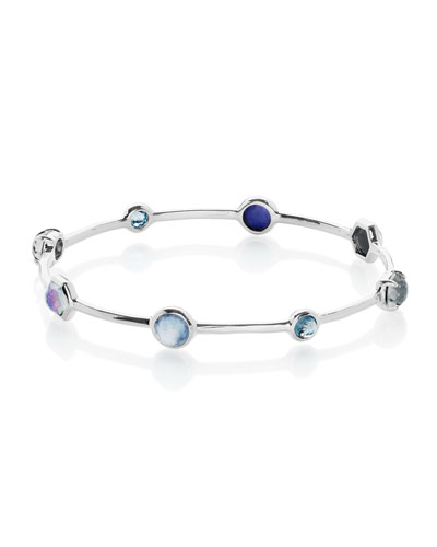 Rock Candy 9-Stone Bangle in Eclipse