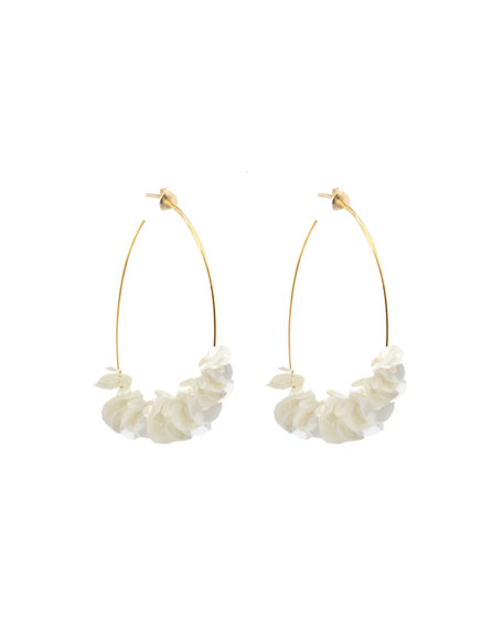 Mignonne Gavigan Lolita Sequin Flower Hoop Earrings