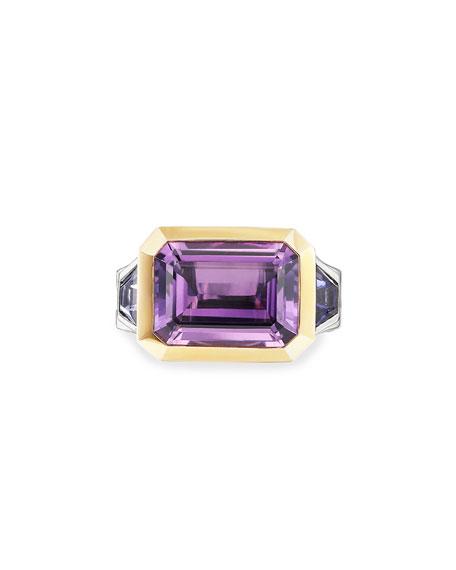 David Yurman Novella 3-Stone Ring w/ 18k Gold, Size 5-8