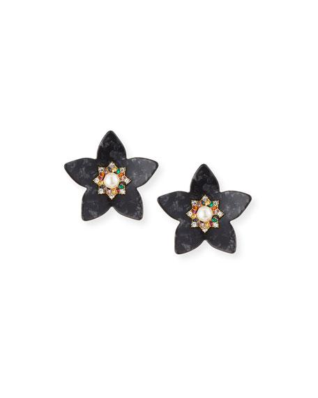 BaubleBar Amariah Flower Resin Drop Earrings