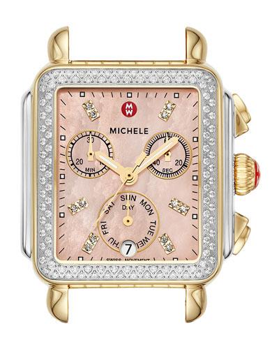 Signature Deco Two-Tone Diamond Watch Head  Gold/Steel