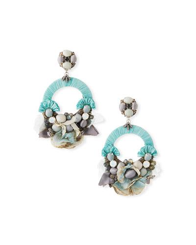 Luna Hoop-Drop Clip Earrings