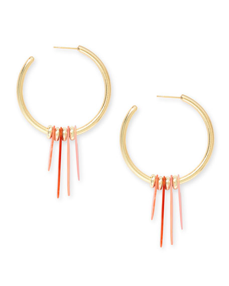 Kendra Scott Gaby Stone-Dangle Hoop Earrings