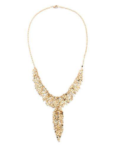 14k Gold Fringe Lariat Necklace