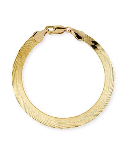 Wide 14k Casino Liquid Flat-Chain Bracelet