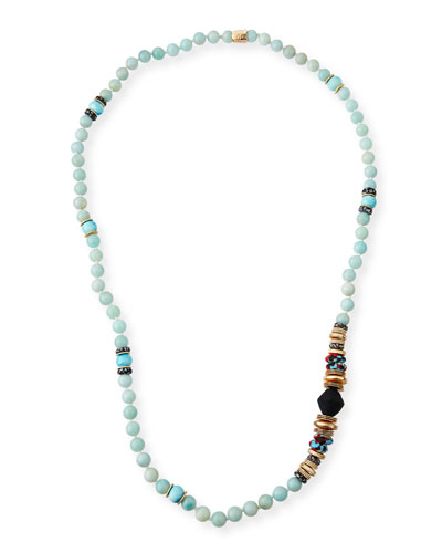 Long Multi-Bead Necklace  36L