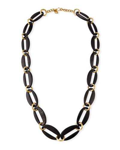 Pepo Link Necklace  Dark Brown